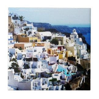 Santorini Insel in Griechenland-FOTO Keramikfliese