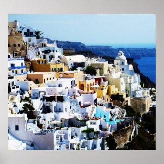 Santorini Insel in Griechenland-FOTO Poster