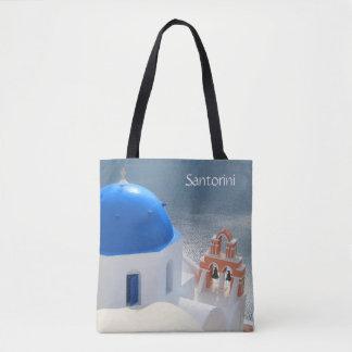 Santorini Kirche am Nachmittag Sun Tasche