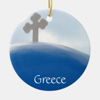 Santorini Kreuz am Nachmittag Sun Keramik Ornament