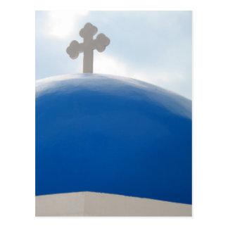 Santorini Kreuz am Nachmittag Sun Postkarte