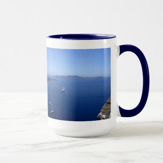 Santorini Panorama-Tasse Tasse
