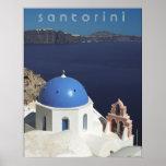 Santorini Plakat