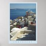 Santorini Plakat-Druck (Filmphotographie) Poster