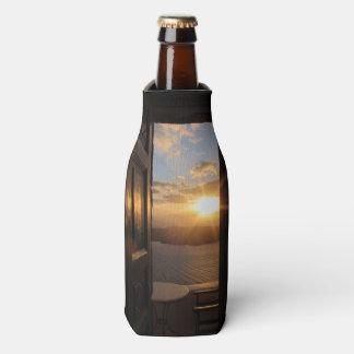 Santorini Sonnenuntergang durch Tür Flaschenkühler