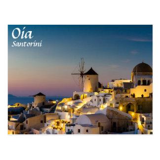 Santorini - Stadtbild von Oia an der Postkarte