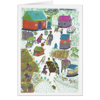 Sanyus Familien-Modell-Zuhause Karte