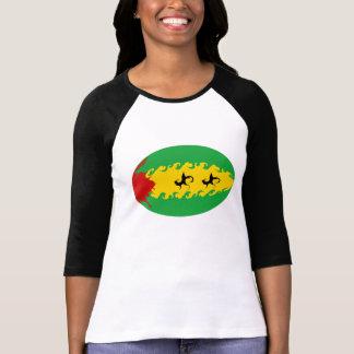 Sao Tome Gnarly Flag T-Shirt