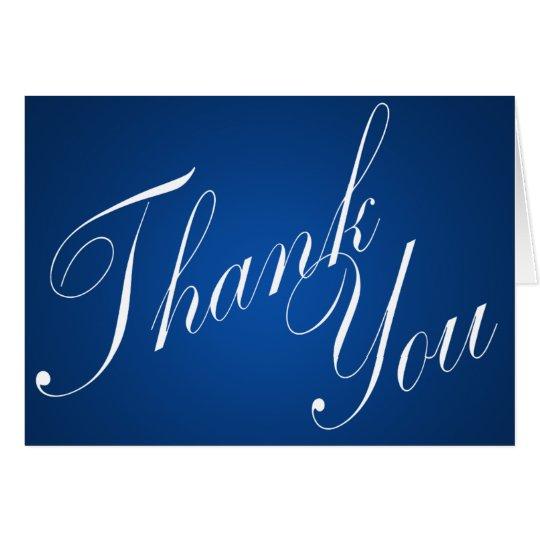 Saphir-Blau dankt Ihnen Karte