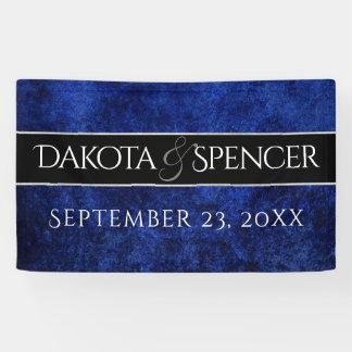 Saphir-blauer Juwel-Ton-gotische Kobalt-Hochzeit Banner