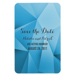 Saphir-Juwel-Töne Save the Date Flexi Magnet