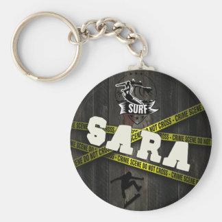 SARA - Skater Style Standard Runder Schlüsselanhänger