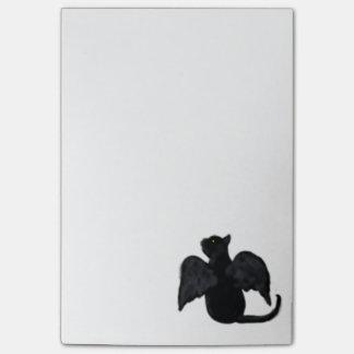 Sarah die Schwarzes Winged Katze Post-it Klebezettel