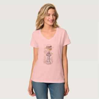 """Sarah Kay """"Camille"""" V-Hals T - Shirt-Rosa T-Shirt"""