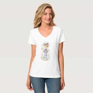 "Sarah Kay ""Camille"" V-Hals T - Shirt-Weiß T-Shirt"