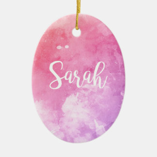 Sarah-Name Ovales Keramik Ornament