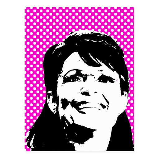 Sarah Palin 3 Postkarte