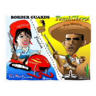 Sarah Palin und Obama-Grenzschutz Postkarten