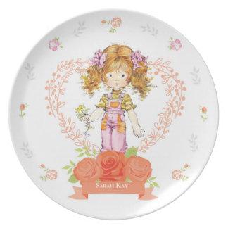 Sarahs Kay Fleur Aprikose der Porzellan-Platten-#2 Essteller