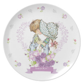 Sarahs Kay Fleur Lavendel der Porzellan-Platten-#3 Essteller