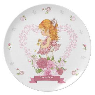 Sarahs Kay Fleur Magenta der Porzellan-Platten-#4 Melaminteller