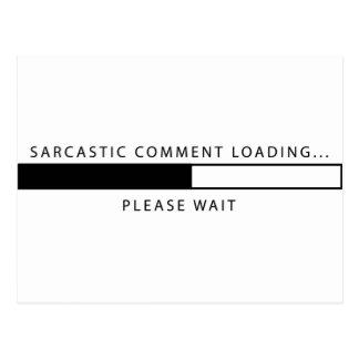 Sarkastisches Kommentar-Laden Postkarte