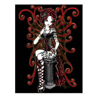 """""""Sasha"""" gotische Couturenvalentine-Fee-Postkarte Postkarte"""