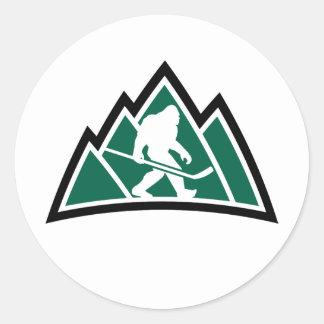 """Sasquatch Hockey 3"""" runder Aufkleber (Blatt von 6)"""