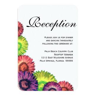 Sassy Frühlings-Blumen-moderner Hochzeits-Empfang 8,9 X 12,7 Cm Einladungskarte