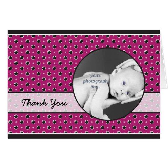Sassy Polka-Punkt-Foto danken Ihnen, - Lila zu Mitteilungskarte