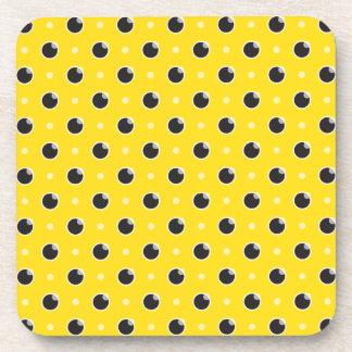 Sassy Polka-Punkt-Untersetzer-Set - Gelb