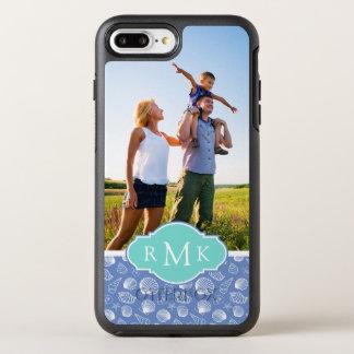 Sassy Seashell-Muster   Ihr Foto u. Monogramm OtterBox Symmetry iPhone 8 Plus/7 Plus Hülle