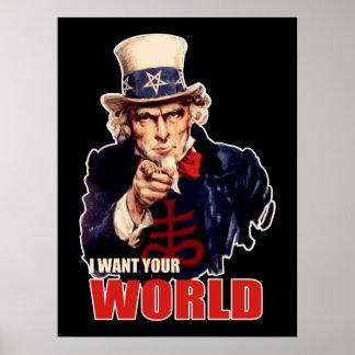 Satanischer kapitalistischer Uncle Sam Poster