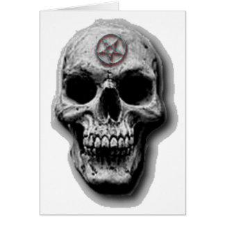 Satanischer schlechter Schädel-Entwurf Karte