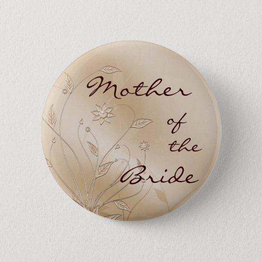 Satin-Eleganz-Mutter der Braut Runder Button 5,7 Cm