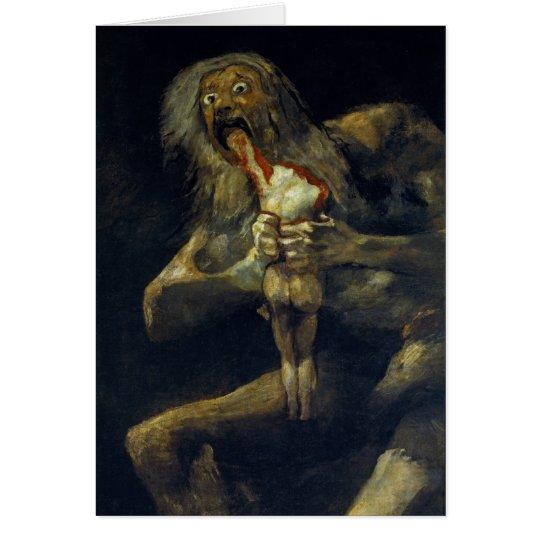 Saturn, das seinen Sohn durch Francisco de Goya Karte