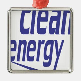 Saubere Energie Quadratisches Silberfarbenes Ornament