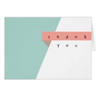 Saubere Grafik danken Ihnen Geschäfts-Sets Mitteilungskarte