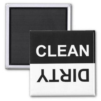 Sauberer oder schmutziger Spülmaschinen-Magnet