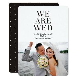Säubern Sie Foto-Hochzeits-Mitteilungen des 12,7 X 17,8 Cm Einladungskarte