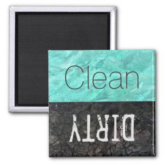Säubern Sie | schmutzige Geschirr-Spülmaschine Quadratischer Magnet
