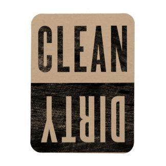 Säubern Sie   schmutzigen Magnet