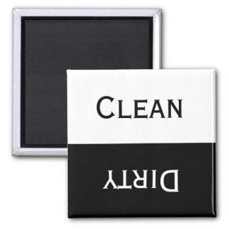 Säubern Sie schmutziges (Schwarzes u. Weiß) Quadratischer Magnet