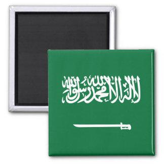 Saudi-Arabien Flaggen-Magnet Quadratischer Magnet