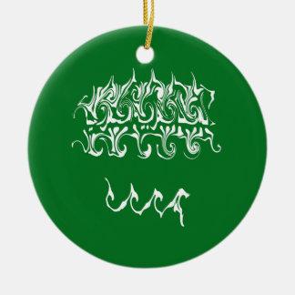 Saudi-Arabien Gnarly Fahne Rundes Keramik Ornament