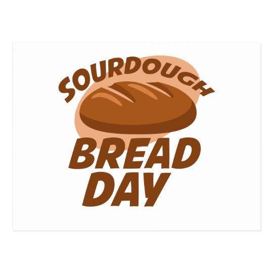 Sauerteig-Brot-Tag Postkarte