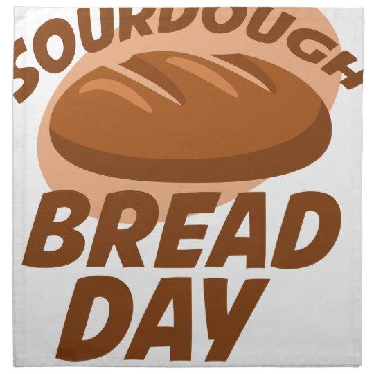 Sauerteig-Brot-Tag Stoffserviette