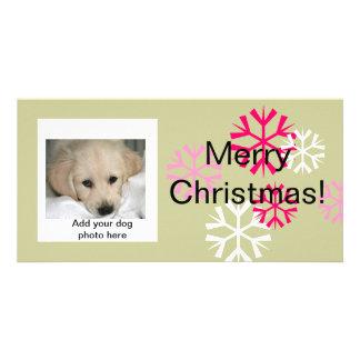 Sauge rose de chien de cartes photos faits sur com photocarte personnalisée