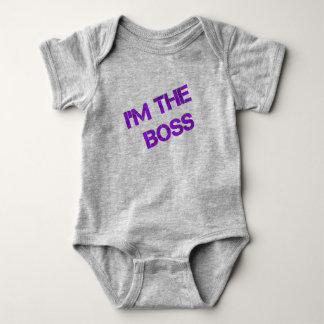 """Säugling Onsie - """"ich bin der Chef-"""" Druck Baby Strampler"""