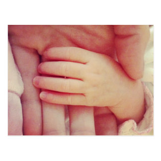 Säuglings-Hand Postkarte